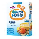 Organic Oatmeal with Peach No Preservatives 200g/7.05oz Fruto Nyanya