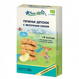 Organic Baby Cookies with Apple Juice 150g/5.28oz Fleur Alpine